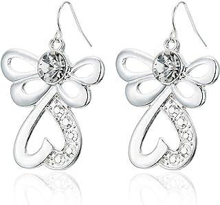 2020 Fashion Silver Angel Wing Earrings for Women Girls, Angel Earrings Inlaid Cubic Zirconia Rhinestone, Christmas Dangle...