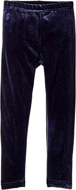 Stretch Velvet Leggings (Little Kids)