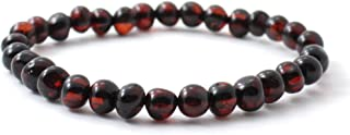 BoutiqueAmber Baltic Amber Bracelet - Adult Size (Women and Men) - 7-8 inches - Made on Elastic Band - Polished Baltic Amber Beads