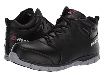 Reebok Work Sublite Cushion Work Mid Comp Toe EH (Black/Grey) Men