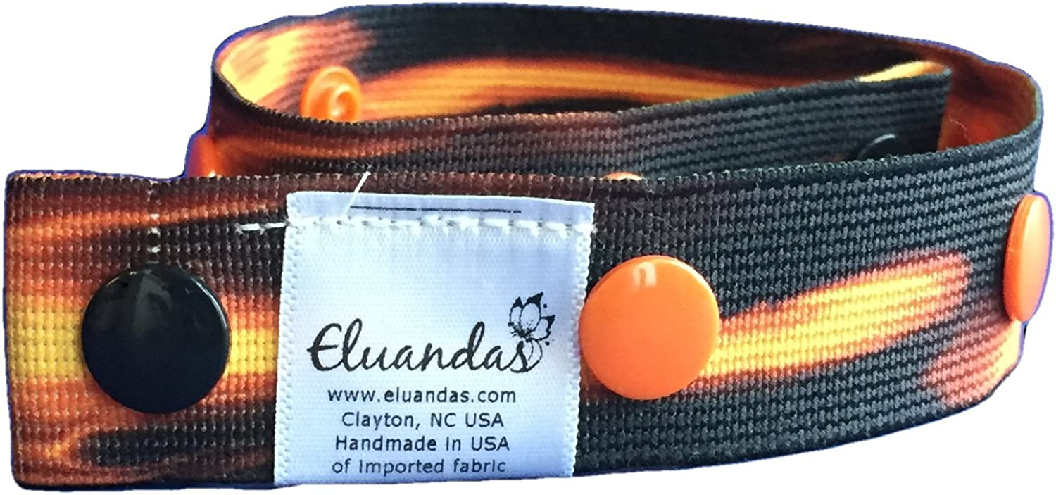 Elu Clips - Elastic Snap Belt for Kids and Adults - Patterned Elastic - no front closure