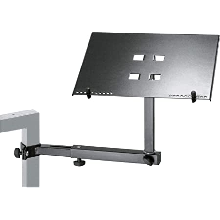 K and M 18815 Music Stand for Laptop - Black