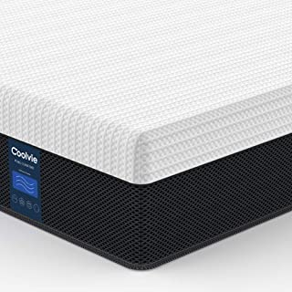 Full Mattress Hybrid 10 inch, Coolvie Innerspring Mattress in a Box, Motion Isolation Pocket Coil with Comfort Memory Foam Layer, Pressure Relief, CertiPUR-US Certified, Risk-Free 100-Night Trial