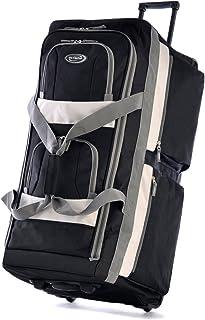 "Olympia Sports Plus 33"" 8 Pocket Rolling Duffel Bag in Black"