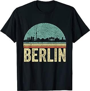 Retro Berlin German Capital City Skyline Germany Souvernir T-Shirt