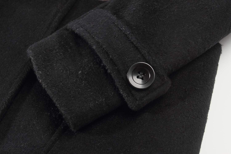 SSLR Big Boys Winter Thermal Wool Hooded Toggle Coat