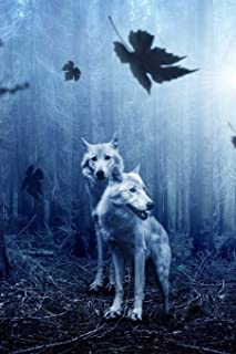 Wolves in the Dark Forest: 150 page lined 6 x 9 notebook/diary/journal