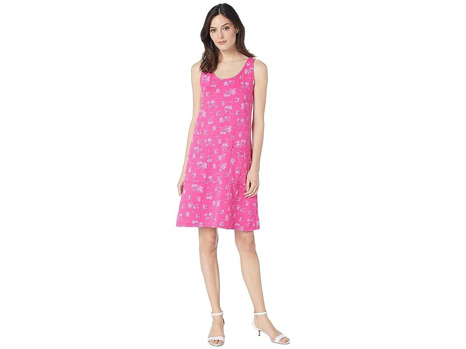 Fresh Produce Seaside Escape Drape Dress (Raspberry) Women