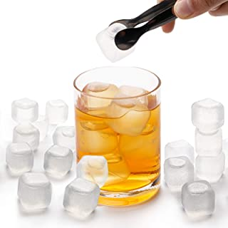 """Yopay 200 Pieces Plastic Ice Cubes, 0.1"""" Reusable Ice Cubes For Chills Drinks, All Beverages, Refreezable, Washable, Quick..."""