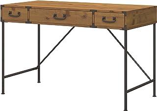 Bush Furniture kathy ireland Home Ironworks Writing Desk, 48W, Vintage Golden Pine