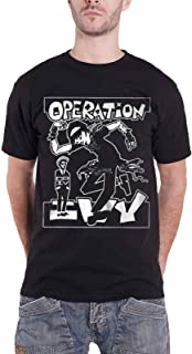 T Shirt Skankin Band Logo Op Ivy Punk Official Mens Black