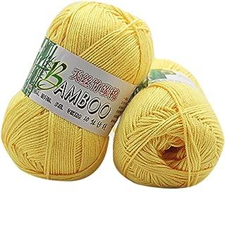 YUNIAO 1PC 50g New 100% Tencel Bamboo Cotton Yarn,Crochet Knitwear Wool for Knitting, Crocheting, Weaving,Chunky Colorful Cotton Line,Skin Care Cashmere (E)