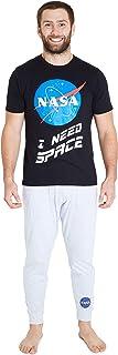 Pijama Hombre, Pijama Hombre Invierno de Algodon, Conjunto 2 Piezas Camiseta Manga Corta y Pantalones, Regalo para Hombre y Adolescente Talla M-2XL