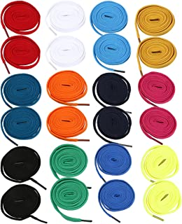 WINOMO Cordones de Zapatos Planos 12 Pares para adultos Zapatos Runing Zapatos de zapatillas (colores al azar)