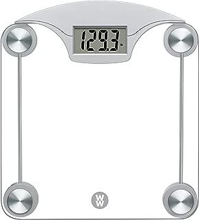WW Scales by Conair Digital Glass Bathroom Scale, 400 lb. capacity