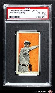 1910 E93 Standard Caramel Johnny Evers Chicago Cubs (Baseball Card) PSA 4.5 - VG/EX+ Cubs
