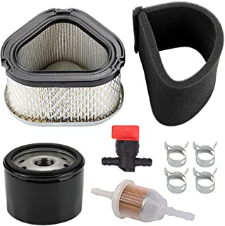 Yermax GY20661 Air Filter with Oil Filter Maintence Kit for John Deere LT160 LX266 L110 7G18 17.542HS G15 GS30 GS45 Lawn Mower Tractor