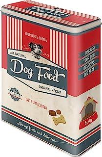 Nostalgic-Art Retro förvaringsburk XL tassskylt mat – presentidé för hundägare, förvaringslåda för torrfoder, hund Bisquit...