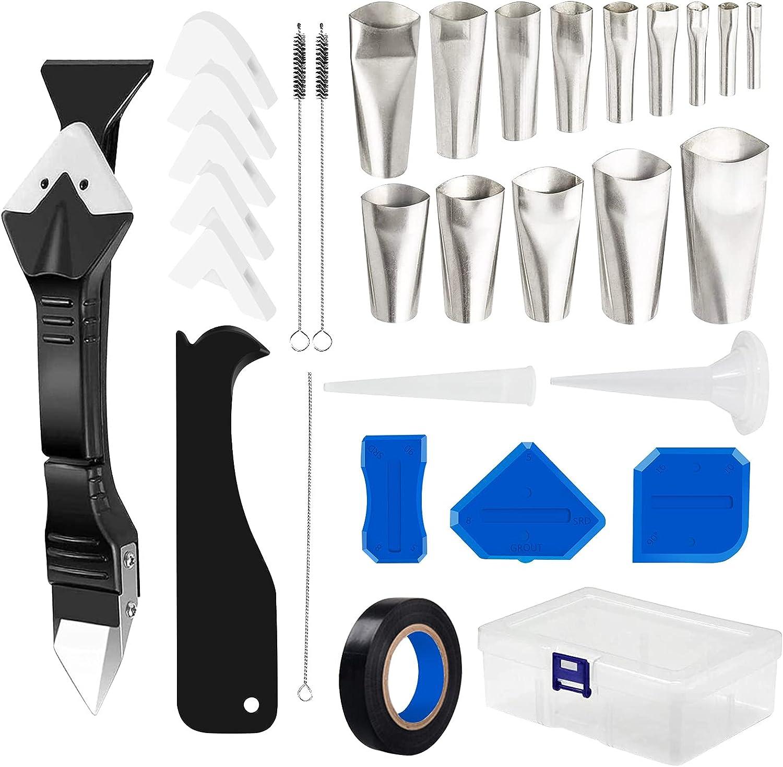 Caulking Tool Rapid rise 32 Pcs Silicone Kit Popular overseas Stainlesshead