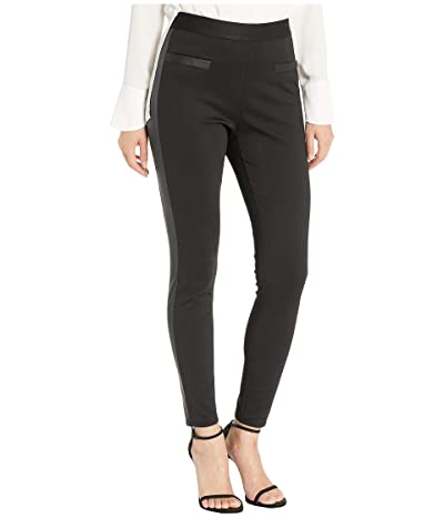 BCBGeneration Side Contrast High-Waisted Leggings (Black) Women