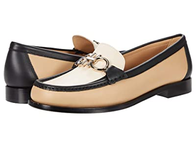 Salvatore Ferragamo Rolo Loafer (Almond/Nero/Bone) Women