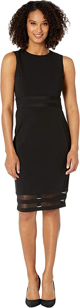 aed2875dd98 Calvin Klein. Square Neck A-Line Dress W  Self Tie Belt.  129.00. Black