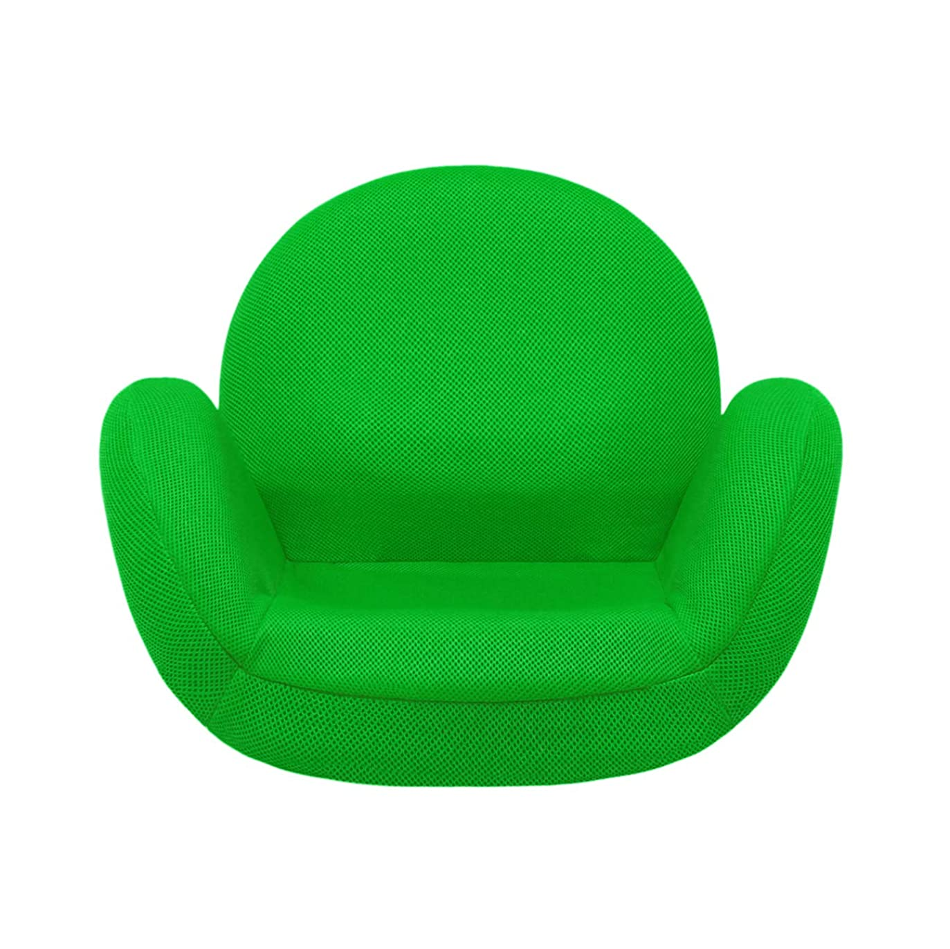 基本的な白鳥町tegopo 座椅子 スワン チェア 腰痛 6段階調節 リクライニング ひじ掛け付き メッシュタイプ (幅55cm 奥44cm 高41cm コンパクト 通常サイズ TGグリーン色)