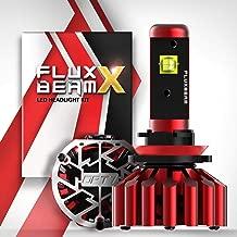 OPT7 Fluxbeam X V2 H11 H8 H9 LED Headlight Bulbs w/Arc-Beam Lens - 13,000LM 6000K Daytime White - All Bulb Sizes - 140w - 2 Year Warranty