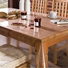 HAWTKART - Transparent Dining Table Cover - 54 INCH X 78 INCH - Without Border - Pack of 1 PC