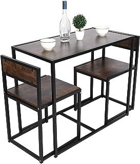 Table et Chaise Salle a Manger, Table Salle à Manger Rectangulaire, Rectangulaire Table en MDF avec 2 Chaises pour Mmaiso...