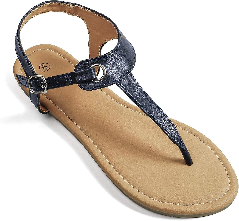 Soles & Souls Flat T-Strap Thong Sandal for Women