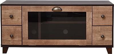 大川家具 アビライト 日本製 テレビボード アンティークリビングシリーズ幅101 ブラウン EN-0060
