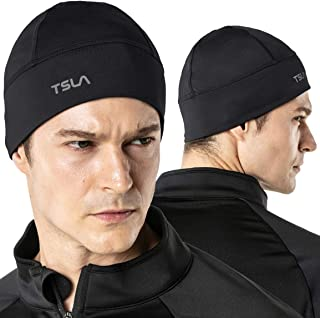 TSLA Men and Women (Pack of 1, 2) Thermal Fleece Lined Skull Cap, Winter Ski Cycling Cap Under Helmet Liner, Cold Weather ...