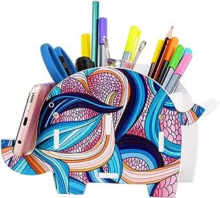 Colorful Elephant Pencil Holder Pen Brush Remote Control Organizer