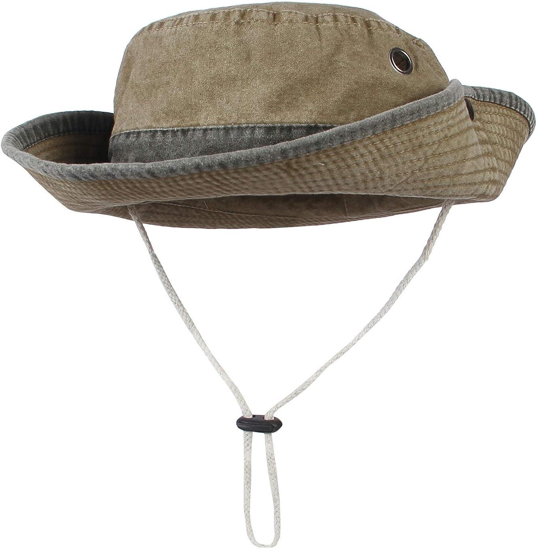 EOZY Herren Hut Sommer Sonnenhut Faltbar UV Schutz Fischerhut Outdoor Safari Hut
