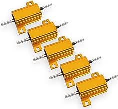 5pcs 2 ohm 10W Aluminum Housed Metal Case Wirewound Resistors