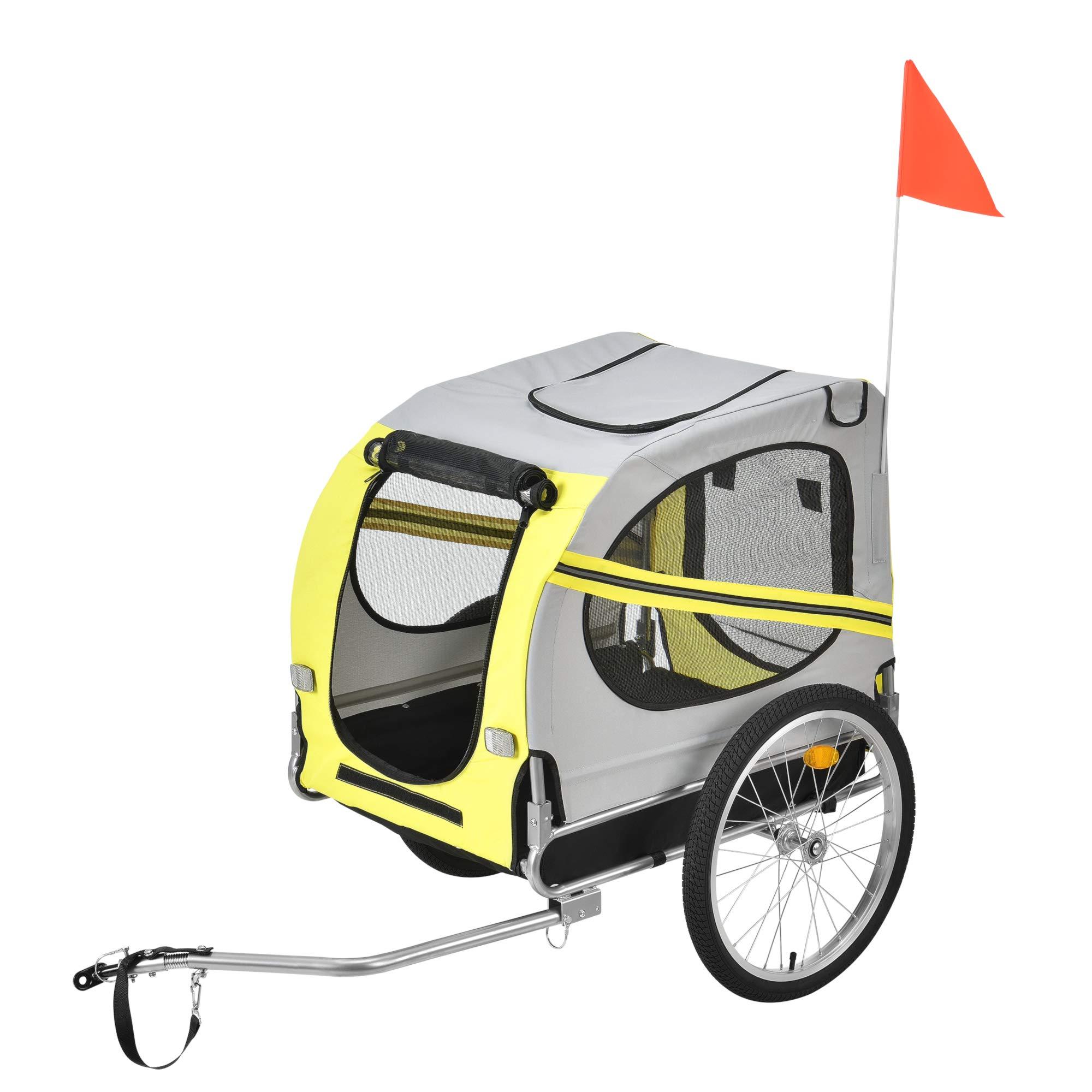 pro.tec] Remolque de Bicicleta para Mascotas - para Perros 138 x ...
