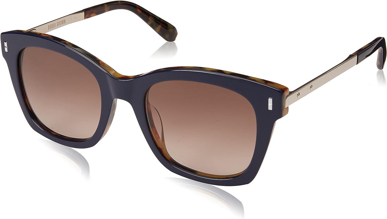 Bobbi Brown Women's The Nadia s Square Sunglasses, blueE HVNA 50 mm