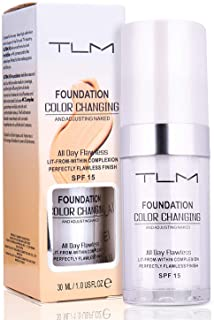 30ml TLM Color Changing Foundation Liquid Base Makeup Change To Your Skin Tone By Just Blending