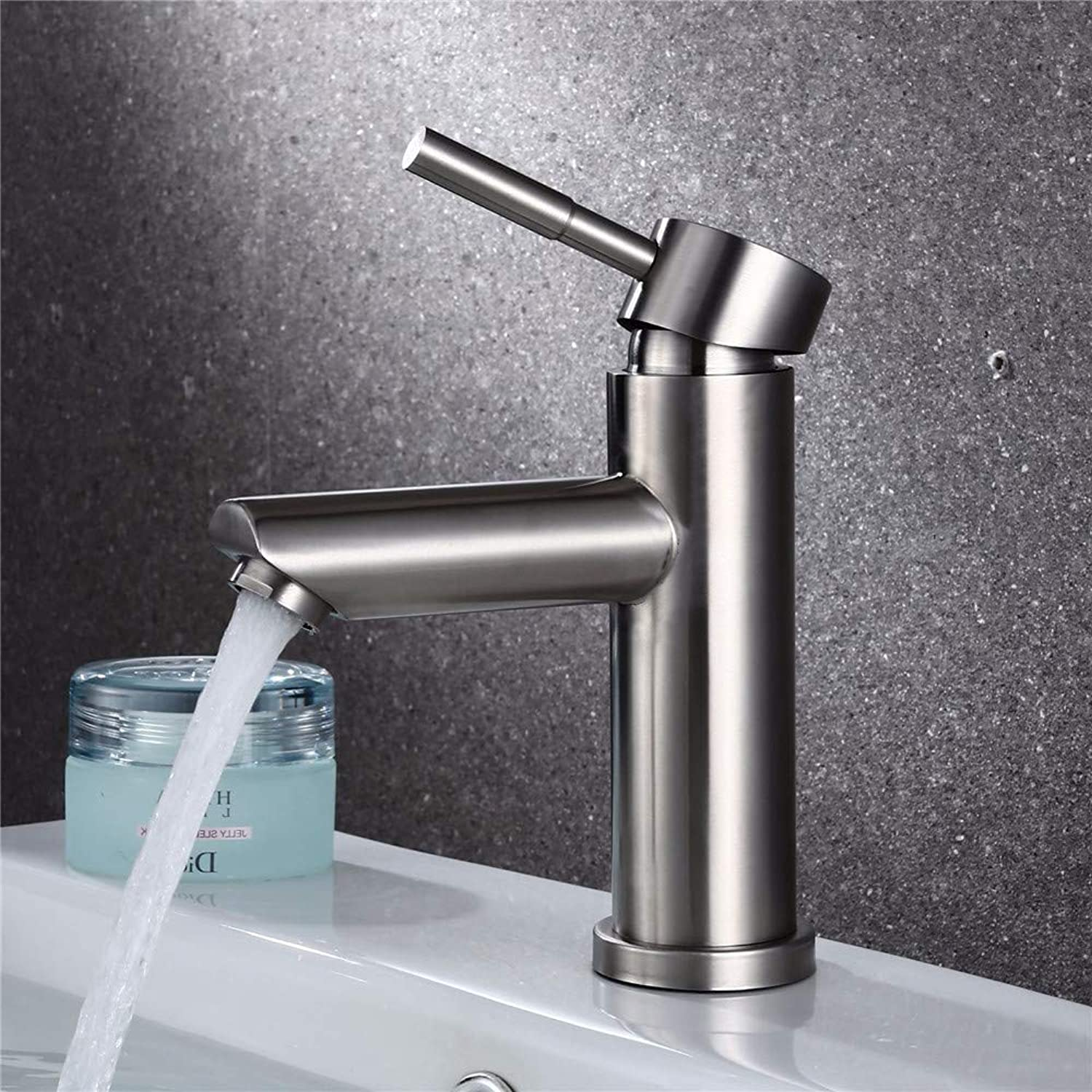 Oudan 304 Stainless Steel Lead-Free Hot and Cold Water Basin Faucet Bathroom Wash Basin Vanity Basin Faucet (color   -, Size   -)