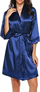 Best blue satin robe Reviews
