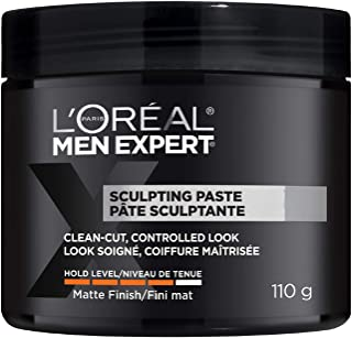 L'Oreal Paris Men Expert Sculpting Paste, Hair Paste For Men, Formulated For Extra Strong Hold With A Matte Finish For Any...