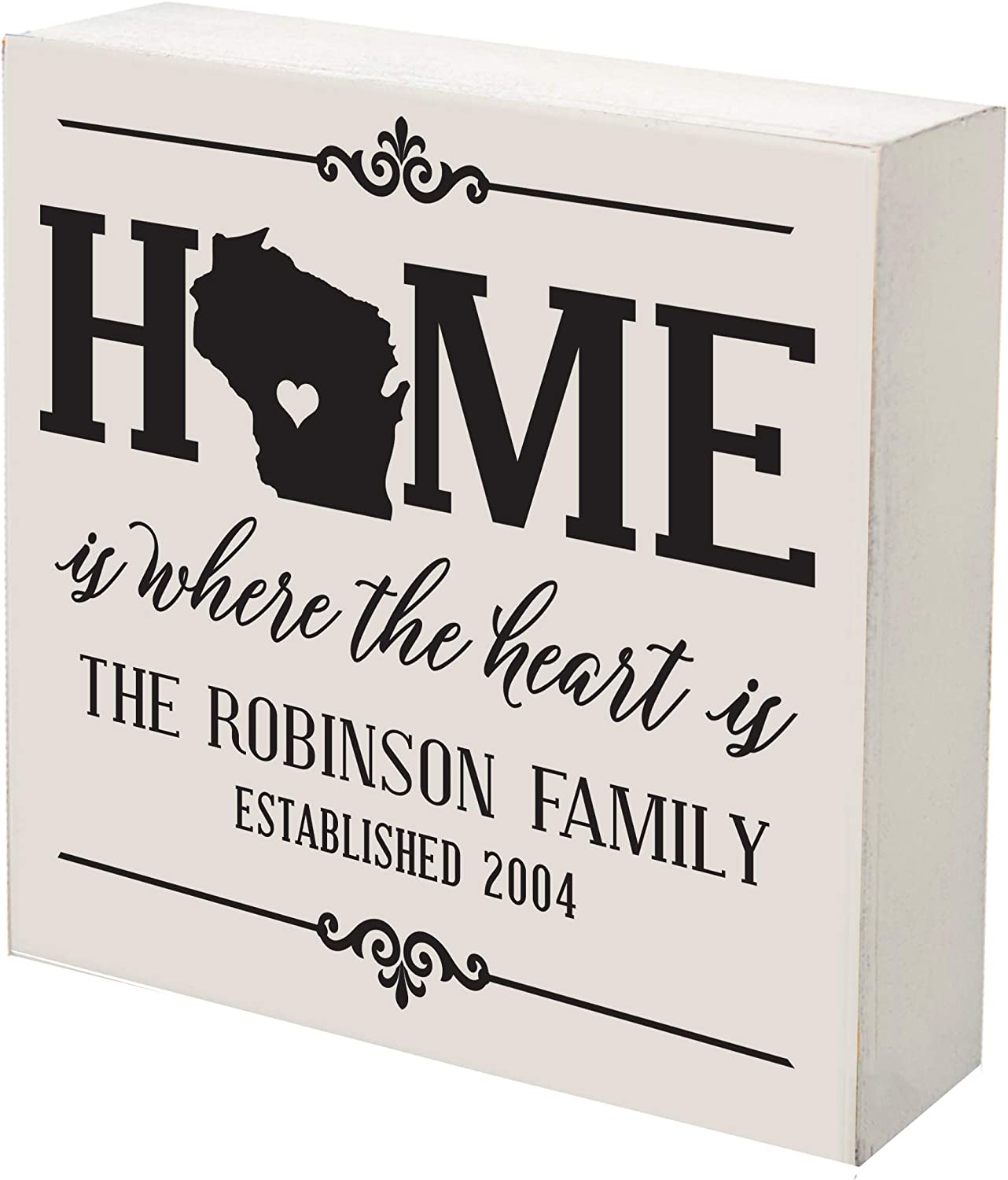 LifeSong Milestones Personalized Wisconsin State 2021 Max 67% OFF new Shadow Home Box