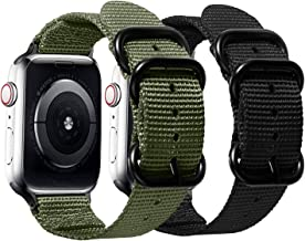 Watpro Compatible with Apple Watch Band 38mm 40mm 42mm 44mm Women Men Nylon Rugged Replacement iWatch Band Military-Style ...