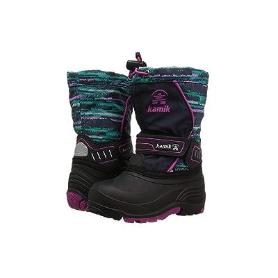 Kamik Kids Snowcoastp (Toddler/Little Kid/Big Kid) (Navy/Teal) Girls Shoes