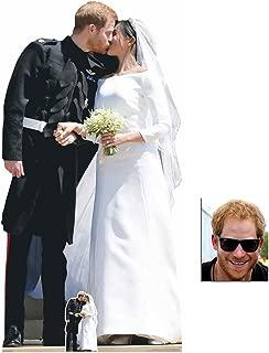 Prince Harry & Meghan Royal Wedding First Kiss Lifesize and Mini Cardboard Cutout Fan Pack, 184cm x 94cm Includes 8x10 Star Photo