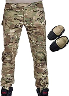 Military Army Tactical Airsoft Paintball Shooting Pants Combat Men Pants with Knee Pads Multicam MC