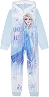 Disney Frozen 2 Pc Coat Style Elsa Brushed Pajama PJS Sleep Set BLUE LARGE 10//12
