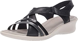ECCO Womens 21651351297 Felicia Wedge Sandal Blue Size: