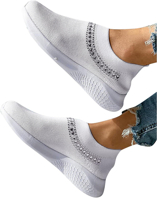 Niceast Women's Sneakers Casual Slip On Mesh Breathable Sneakers Loafers Shoes Comfort Wedge Outdoor Tennis Walking Shoes